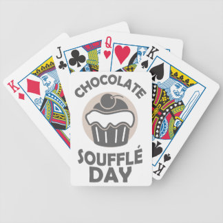 28th February - Chocolate Soufflé Day Bicycle Playing Cards