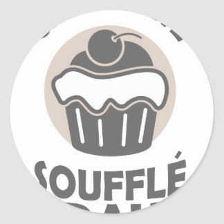 28th February - Chocolate Soufflé Day Classic Round Sticker