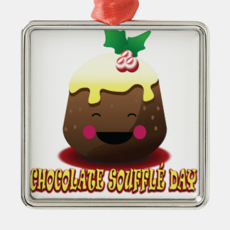 28th February - Chocolate Soufflé Day Metal Ornament
