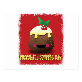 28th February - Chocolate Souffle Day Postcard