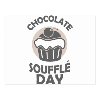28th February - Chocolate Soufflé Day Postcard