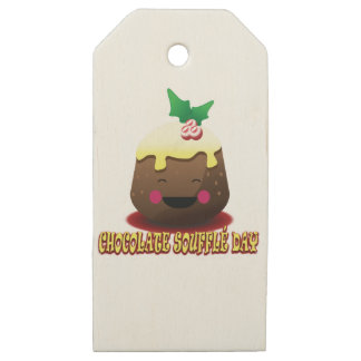 28th February - Chocolate Soufflé Day Wooden Gift Tags