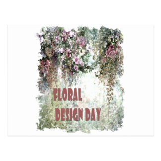 28th February - Floral Design Day Postcard