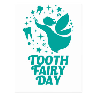28th February - Tooth Fairy Day Postcard