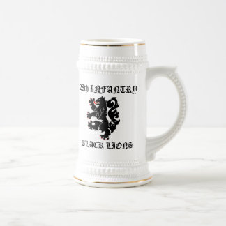 28th INF Black Lions 18 Oz Beer Stein