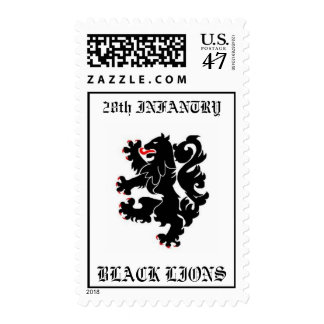 28th INFANTRY, BLACK LIONS Postage