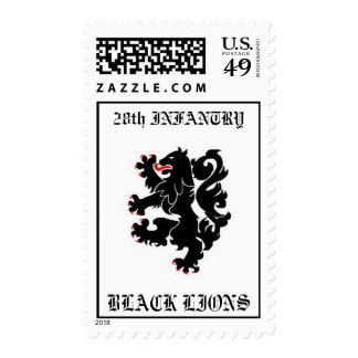 28th INFANTRY, BLACK LIONS Postage Stamp