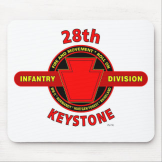 """28TH INFANTRY DIVISION """"KEYSTONE"""" BATTLE PRODUCTS MOUSE PAD"""