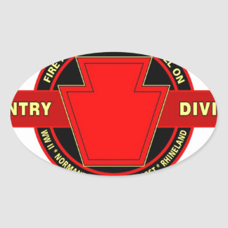 """28TH INFANTRY DIVISION """"KEYSTONE"""" BATTLE PRODUCTS OVAL STICKER"""