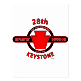 "28TH INFANTRY DIVISION ""KEYSTONE"" POSTCARD"