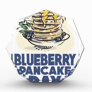 28th January - Blueberry Pancake Day Acrylic Award