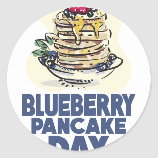 28th January - Blueberry Pancake Day Classic Round Sticker