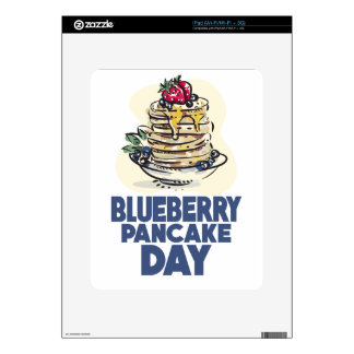 28th January - Blueberry Pancake Day Decal For iPad