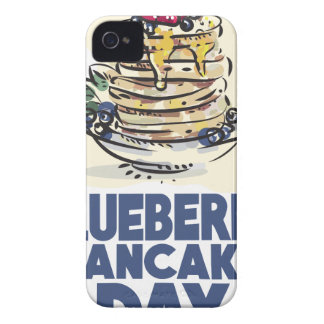 28th January - Blueberry Pancake Day iPhone 4 Case