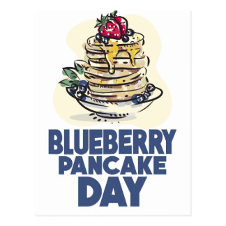 28th January - Blueberry Pancake Day Postcard