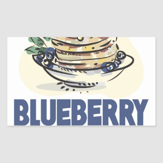 28th January - Blueberry Pancake Day Rectangular Sticker