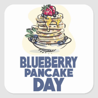 28th January - Blueberry Pancake Day Square Sticker