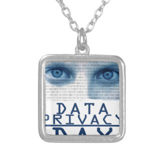 28th January - Data Privacy Day Silver Plated Necklace