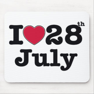 28th july my day of birthday mouse pad