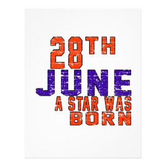 28th June a star was born Letterhead Template