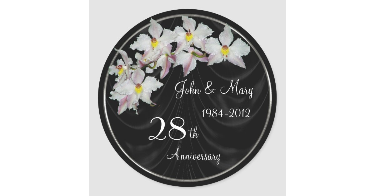28th Wedding Anniversary Gift: 28th Wedding Anniversary Sticker