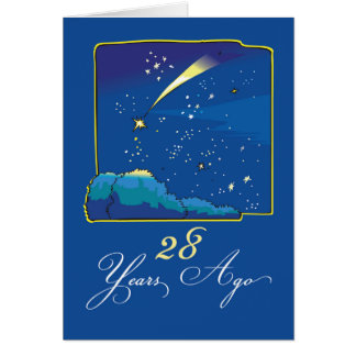 28vo cuarto Aniversario de la adopción con las Tarjeta De Felicitación
