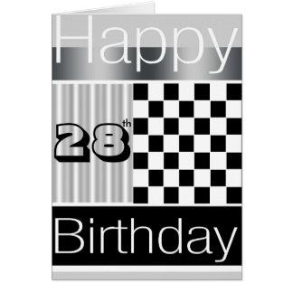 28vo cuarto Cumpleaños Tarjeta De Felicitación