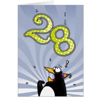 28vo cuarto cumpleaños - tarjeta de la sorpresa de