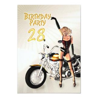 28vo cuarto Invitación de la fiesta de cumpleaños