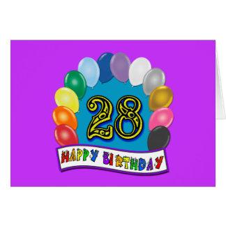 28vo cuarto Regalos de cumpleaños con diseño clasi Tarjeta De Felicitación
