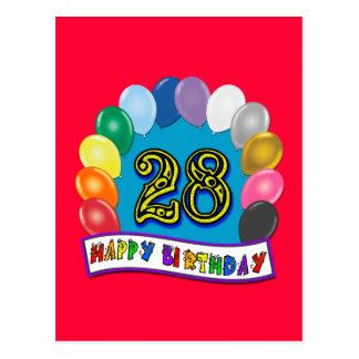28vo cuarto Regalos de cumpleaños con diseño Tarjetas Postales