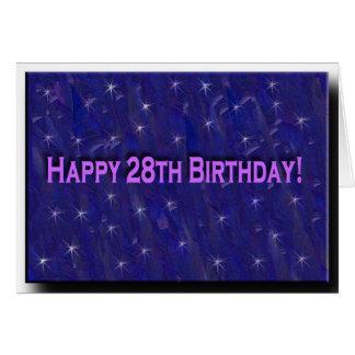28vo cuarto Tarjeta de cumpleaños