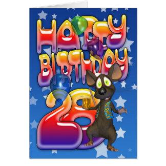 28vo cuarto Tarjeta de cumpleaños, feliz cumpleaño