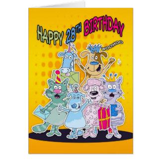 28vo cuarto Tarjeta de cumpleaños - Moonies Doodle