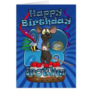 28vo cuarto Tarjeta de cumpleaños para Brother - r