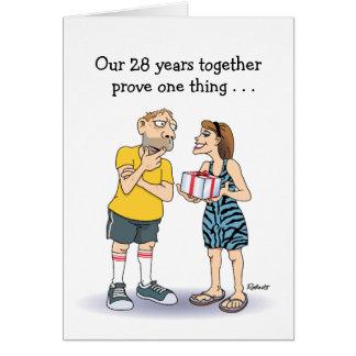 28vo cuarto Tarjeta del aniversario de boda: Amor