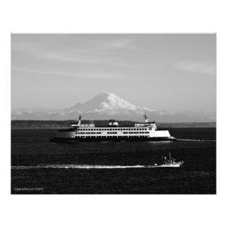 28X20 el Monte Rainier - transbordador de WA y gua Fotografía
