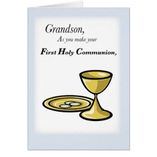 2911 Grandson First Communion Greeting Card