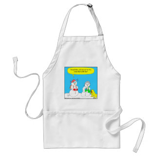 291 Snow Ball Cartoon Adult Apron