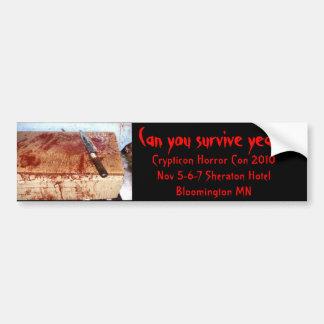 ¿291ba4d1, puede usted sobrevivir el año 5? , Cryp Pegatina De Parachoque