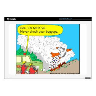 292 firetanker cartoon laptop skin