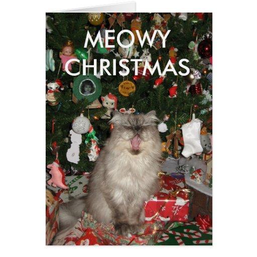 292, MEOWY CHRISTMAS GREETING CARDS