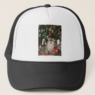 292Rudy Meowy Christmas Trucker Hat