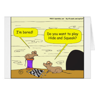 295 hide and squeak cartoon card
