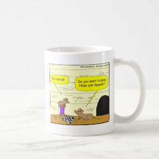 295 hide and squeak cartoon coffee mug