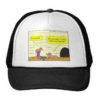 295 hide and squeak cartoon trucker hat