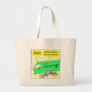 297 mobile library cartoon tote bag