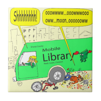 297 mobile library cartoon ceramic tile
