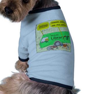 297 mobile library cartoon pet shirt