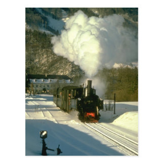 298.25 leaves Leonstein with a train for Molin Postcard